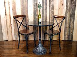 indoor bistro table sets and chairs for images retro wood wrought small outdoor set cafe