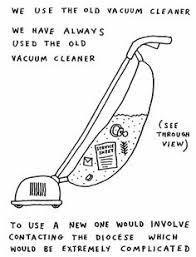 vacuum cleaner inside drawn