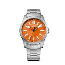 hugo boss orange watch 1512935 silver orange silver strap menkind boss watch 61512935
