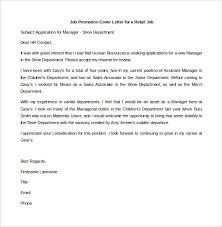 Sample Cover Letter For Promotion 17 Best Ideas Of Applying A Job