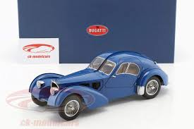 The bugatti type 57 and later variants (including the famous atlantic and atalante) was an entirely new design created by jean bugatti, son of founder ettore. Autoart 1 18 Bugatti 57s Atlantic Built In 1938 Blue 70943 Model Car 70943 674110709438