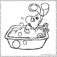Small Picture Blues Clues taking a bath coloring page Printables for Kids