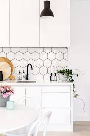 Love these hexagon tiles! White subway tile backsplashes are elegant,  they're classic, and they're everywhere. Here are seven stylish (and  affordable) ...