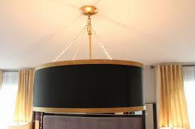 lighting oversized drum shade chandelier and black drum