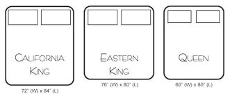california king mattress vs king. California King Bed Vs Eastern Mattress Size Luxury S