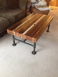 Coffee table made from old 2x4s and black iron pipe   Industrial ...
