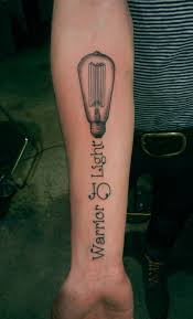 Warrior Of Light Bulb Tattoo On Forearm Tattoos Book 65000