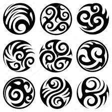 круглые татуировки набор векторное изображение Alisher 18879397