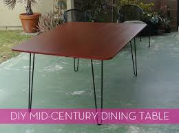 mid century modern kitchen table. magnificent diy mid century modern dining table how to make a diy kitchen r