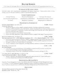 resume template qualifications summary summary sample resume