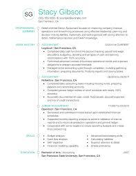 Resume Chronological Executive Accountant To Prepare