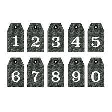 おしゃれ数字ナンバー白黒 無料 スタンプ イラスト 商用フリー
