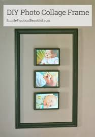 how to make a diy photo collage frame from wood moulding and picture frames