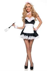 FREE SHIPPING 8595 Sexy French Maid Waitress Servant Costume Bedroom Outfit Fancy  Dress S,M