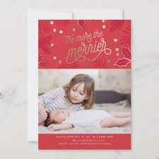 Birth Announcement Christmas Card Zazzle Com