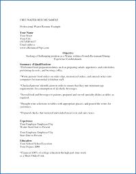 Waiter Resume Template Waitress Resume Template Waiter Resume Sample Waitress Cv Example 7