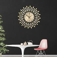 silent metal large wall clock round