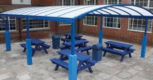 school canopies dining area canopies