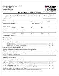 Employment Application Form Free Printable Generic Job