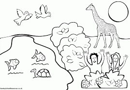 Security Creation Colouring Pages Sunday School Coloring Printable