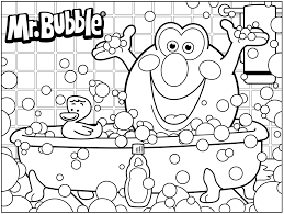 Small Picture Bath Time 3D Coloring Pages With glumme