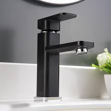 Designer Taps For Wash Basin Washbasin Mixer Tap 1233cb Chrome Black Bernstein Bathroom
