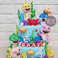 shark birthday cakes shark cake