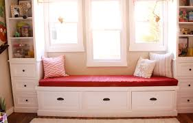 window seat furniture. Red Cushions For Window Seats With Patterned Pillows And Cabinet Set Seat Furniture T