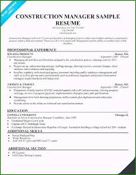 Construction Laborer Resume Sample Construction Project Manager Resume Examples 48 Helpful