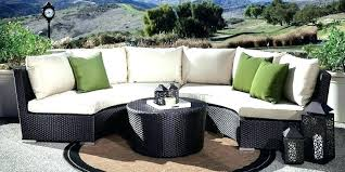 curved wicker patio furniture curved wicker patio sofa sectional outdoor furniture cushions rattan home design