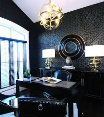 2011 hhl den contemporary home office idea in other with black walls and a freestanding desk awesome simple office decor men