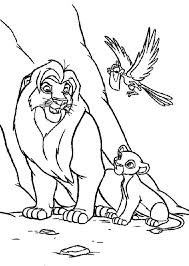 lion king simba coloring pages and the page baby