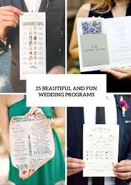 Fun Wedding Programs 25 Beautiful And Fun Wedding Programs To Get Inspired