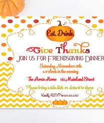Friendsgiving Dinner Printable Invitation Fall Party Thanksgiving