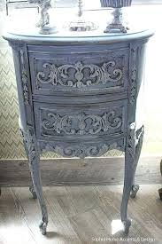 side table Gray Side Table Shabby Chic Vintage French Style
