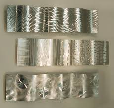 image of modern metal wall art decor silver