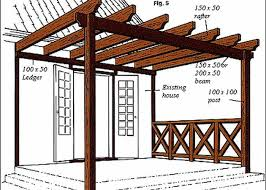 diy pergola attached to the dwelling