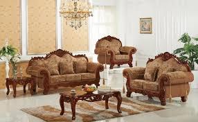 cherry trim fabric sofa 689 meridian furniture