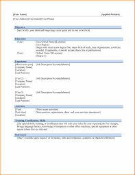 6 Download Best Cv Format In Ms Word Instinctual Intelligence