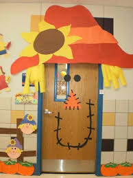 Interesting Classroom Door Decorations For Fall Scarecrowdoordecoration N To Inspiration