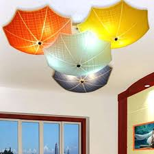 modern kids lighting. Kids Ceiling Lights Modern Children Bedroom Lamps Umbrella Glass Lampshade Room Led Home Lighting E