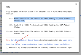 Using Google Scholar To Download Bibtex Citations Texblog