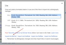 Using Google Scholar To Download Bibtex Citations Texblog