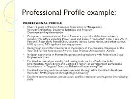 Professional Profile For Resume Career Profile Lily Professional