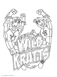 Wild Kratts Colouring Pages