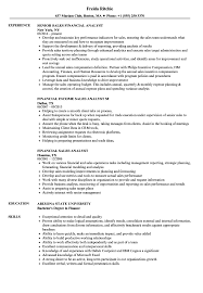 Financial Analyst Resume Examples Financial Sales Analyst Resume Samples Velvet Jobs 21