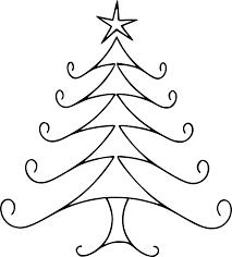 Christmas Line Drawing Cliparts Christmas Tree Drawing