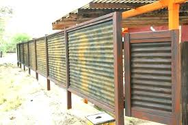 how to build sheet metal fence. Interesting How Metal Fence Ideas Corrugated Panels  Cost Club   On How To Build Sheet Metal Fence E