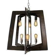 lofty 6 light steel 2 tier chandelier