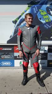 mr hatfield with his new leathers